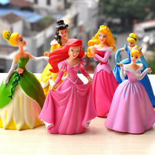 Disney Princess Snow White Cinderella  9cm 6pcs set Action Figures Cake Topper