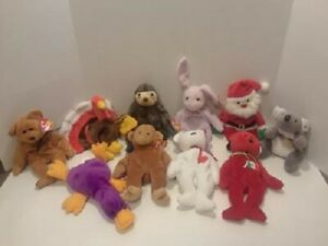 TY BEANIE BABIES LOT OF 20 BEANIE BABIES WITH HANG TAGS SOME MAY HAVE ERRORS