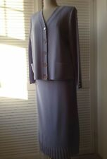 Lucia knitted lilac skirt& cardigan 14/16