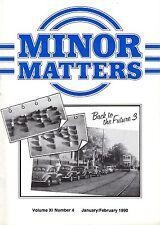 "MORRIS MINOR OWNERS CLUB MAGAZINE - ""MINOR MATTERS"" (January/February 1990)"