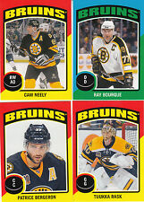 14/15 OPC Boston Bruins Sticker Team Set Bourque Rask +
