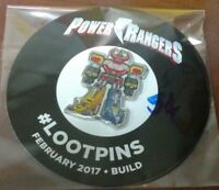 New Loot Crate Pin February 2017 - Build Power Rangers exclusive pin Brand New !