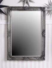 Miroir Mural Baroque Déco Ancien de Sale Bain Argent Psychés