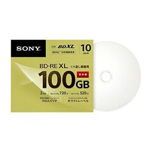 Sony Blank  Blu-ray Disc BD-RE BDXL 100GB 10 Discs 10BNE3VCPS2 Made in Japan