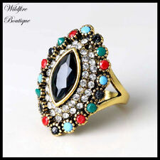 Rhinestone Statement Fashion Rings