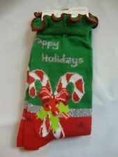 NEW Red Green Planet Sox Holiday Christmas Socks Pair Sizes 9-11 97% Polyester