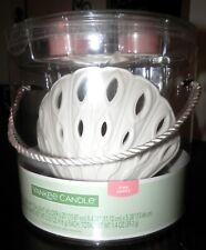 Yankee Candle Ceramic BEACH Sea Shell Luminary Tea Light Holder pink sands NEW