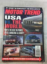 March 1998 Jaguar Lexus Mercedes Benz  BMW   Motor Trend  Magazine Vintage