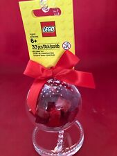 """LEGO RED BRICKS"" HOLIDAY CHRISTMAS ORNAMENT #853344 New"