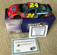 #24 JEFF GORDON DUPONT 2005 COLOR CHROME AUTOGRAPHED 1/24 WITH HOLOGRAM