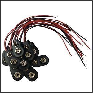5x 9 Volt Batterieclip Block Batterie Clip Anschluss Kabel für 9V Blöcke Stecker