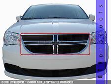 GTG 2011 - 2016 Dodge Grand Caravan 4PC Gloss Black Overlay Billet Grille Kit