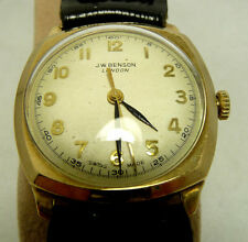 1940's VINTAGE NICE CONDITION 9K SOLID GOLD JW BENSON WATCH