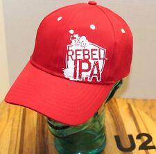 NWOT SAMUEL ADAMS REBEL IPA BEER HAT RED SNAPBACK ADJUSTABLE NEVER WORN U2