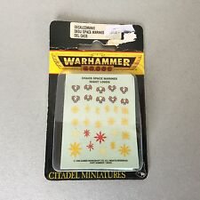 VINTAGE#Warhammer 40K - Chaos Space Marine Night Lords Decals#MOSC