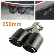 76-101mm Straight Edge Carbon Fiber Car Dual Pipe Exhaust Pipe Tail Muffler Tip