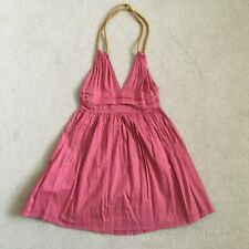 KATE MOSS & TOPSHOP Pink Sun Dress Size UK 8 EUR 36 Pleated Halter Neck