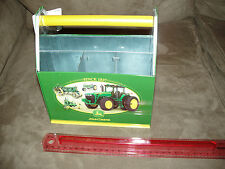 John Deere Tin Sewing Tool Box Carry All - Very Rare - Perfect, NEW Condition