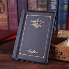 Colección de 120 monedas Bitcoin titular Redondo Almacenamiento dinero bolsillo centavo Álbum Libro