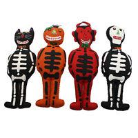 "12"" Plush Doll HALLOWEEN Vintage Style Decor Retro Skeleton Cat Pumpkin Devil"