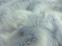 Super Luxury Faux Fur Fabric Material - LONG PILE POWDER PALE BLUE