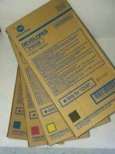 4 Color Set GENUINE Konica Minolta  C500 Developer DV510K DV510C DV510M DV510Y