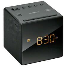 Sony LED Alarm Clock Radio with Snooze, Dual alarm Function & AM/FM Tuner, Black