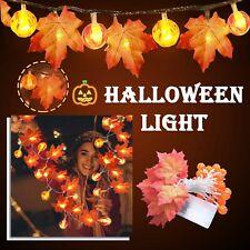 Halloween Herbst Lichterkette Herbst Blättergirlande,Ahornblatt Licht Party Deko