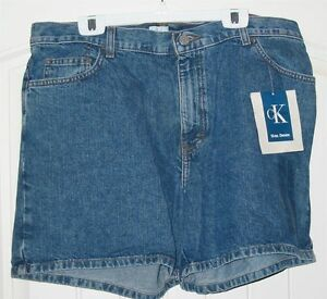 Women's Size 16 Calvin Klein Cotton Jeans Shorts 5 Pockets Stone Washed w DEFECT