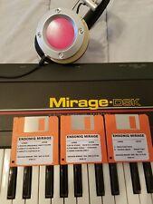 ENSONIQ MIRAGE NEW DISK SET!! MIRAGE/EPS/EPS 16+ COMPLETE 15 SET DISK!!