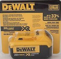 DEWALT 20V 20 VOLT  battery dcb204 4.0 amp hour Retail packaging Brand NEW 2016