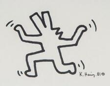 KEITH HARING ORIGINAL HAND SIGNED SIGNATURE INK AND MARKER ON PAPER 1981