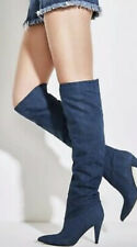 Guess Nidia Slouchy Knee High Blue Denim Boots  EU39 Uk 6 RRP £160