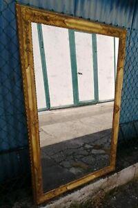 Elegante specchiera dorata intagliata vetro specchio mercurio 123 x 85cm XIX sec