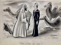 A. CRAMER Original Vintage Gag Cartoon Art TRUE MAGAZINE 1945 NEW YORKER ARTIST