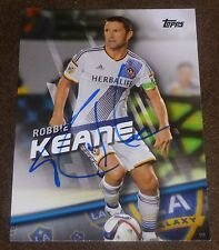 ROBBIE KEANE SIGNED 2016 TOPPS CARD #50 MLS SOCCER LOS ANGELES GALAXY