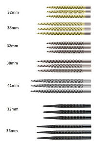 Target Diamond Cut Replacement Dart Points in Gold / Golden or Silver or Black