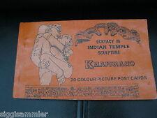 Érotique Inde 20 cartes postales temple Khajuraho kartenheftchen India ecstasy