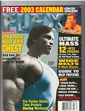 FLEX ARNOLD SCHWARZENEGGER Mr Olympia Bodybuilding Magazine w/calendar 2-03
