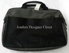 NWT RO BAGS laptop computer travel case organizer designer leather nylon NY