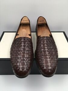 Cole Haan Bragano Italian Weave Leather Loafers Shoes Mens 9.5 M