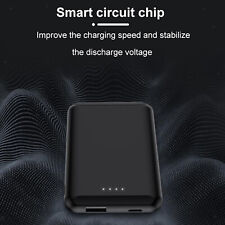 Magnetic Charger 5000mAh Portable Power Bank For iPhone 12 12 mini Black