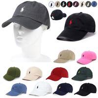 Polo RL Baseball Cap Mens Womens Adjustable Hat Sport Run Classic Small Pony O/S