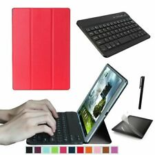"""Smart Case & Bluetooth Keyboard for Samsung Galaxy Tab A 10.1"""" T580 T585 UK Red"""