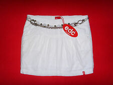 EDC by ESPRIT MINI ROCK WEISS ROMANTIK BOHO BEACH FESTIVAL S 34 36 NEU !! TOP !!