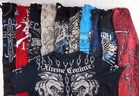 Mens GRAPHIC TEES Lot of 10 Random w 1 Affliction Brand Shirt S M L XL SO COOL!