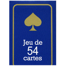 JEU DE 54 CARTES poker ,bridge ,rami ect rouge ou bleu