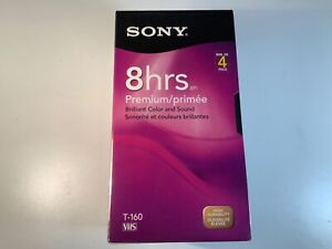 SONY 4 PACK 8HRS VHS TAPE T-160 NEW SEALED
