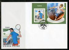 SIERRA LEONE 2018 TENNIS SOUVENIR SHEET FIRST DAY COVER