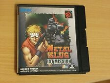 Metal Slug 1st Mission Boxed With Manuals Neo Geo Pocket Color - Immaculate.